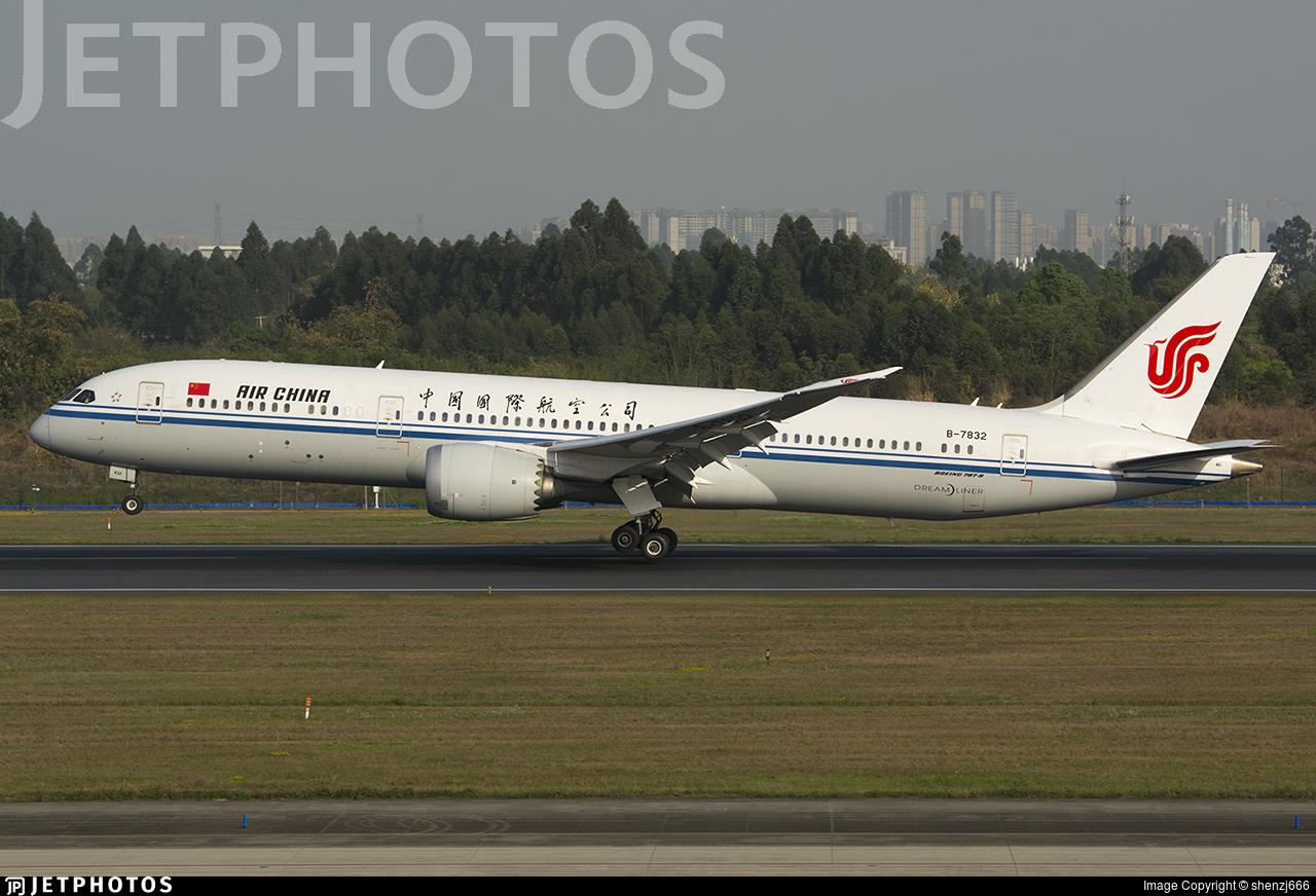 B-7832 - Boeing 787-9 Dreamliner - Air China