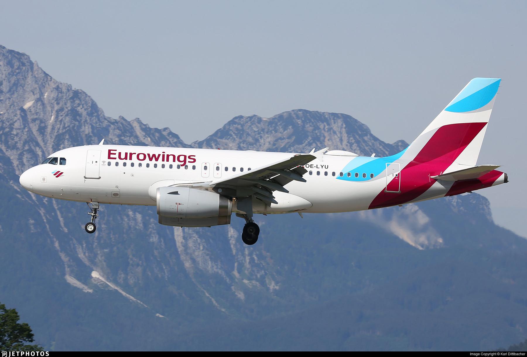 OE-LYU - Airbus A319-132 - Eurowings Europe