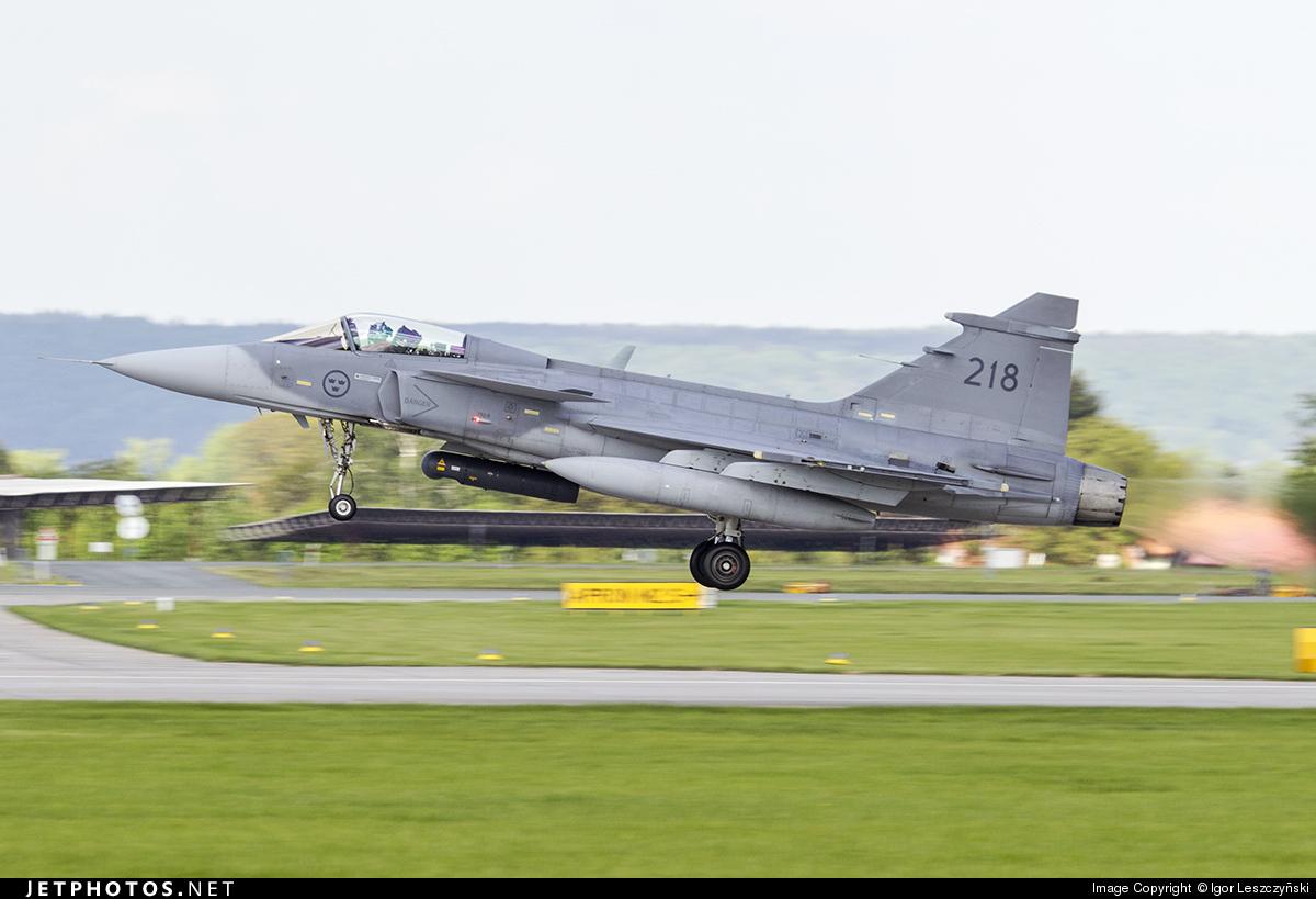 218 - Saab JAS-39C Gripen - Sweden - Air Force