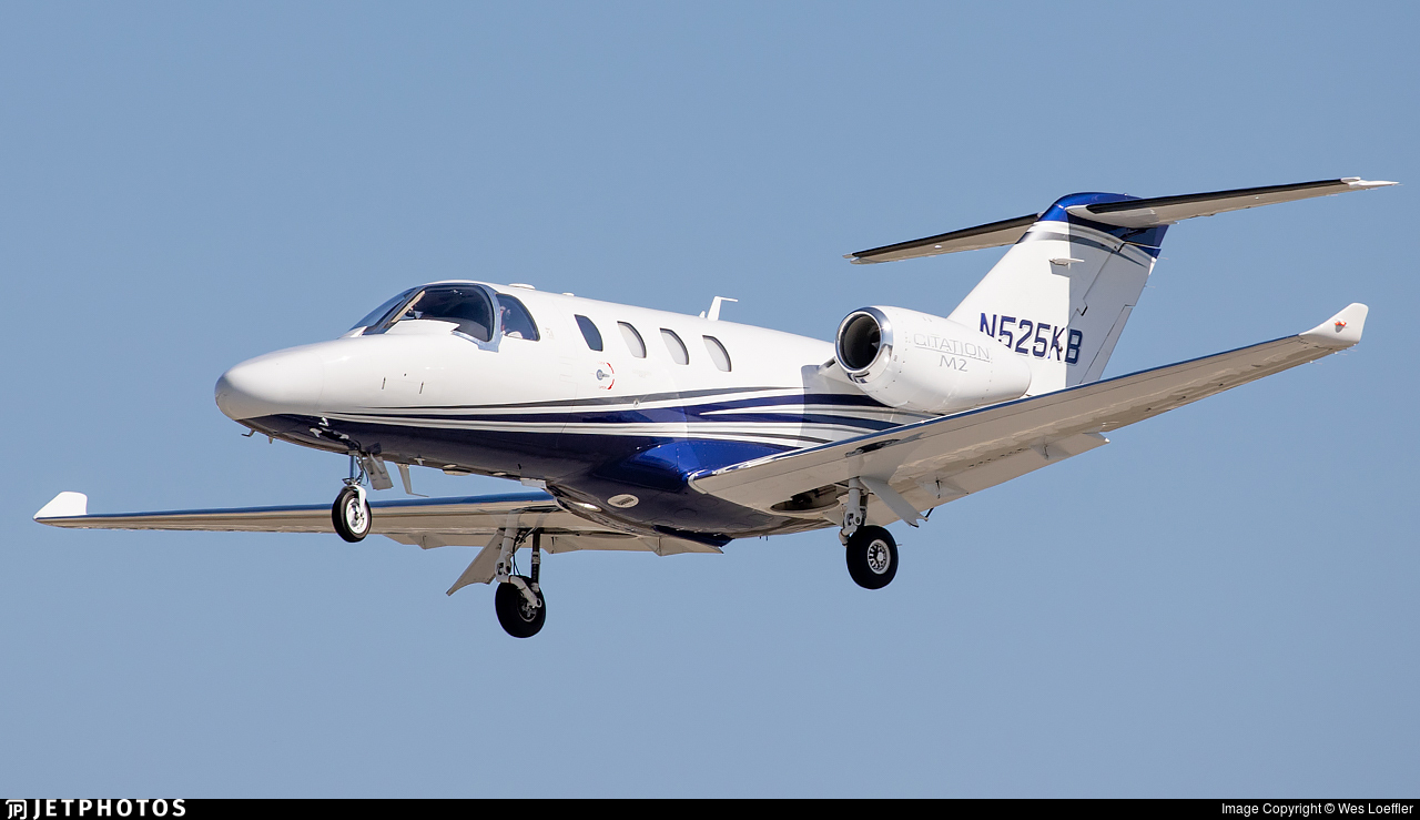 N525KB - Cessna 525 CitationJet M2 - Private