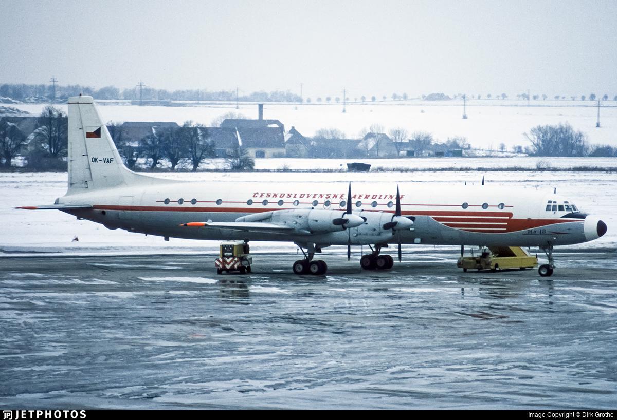 OK-VAF - Ilyushin IL-18D - CSA Ceskoslovenske Aerolinie