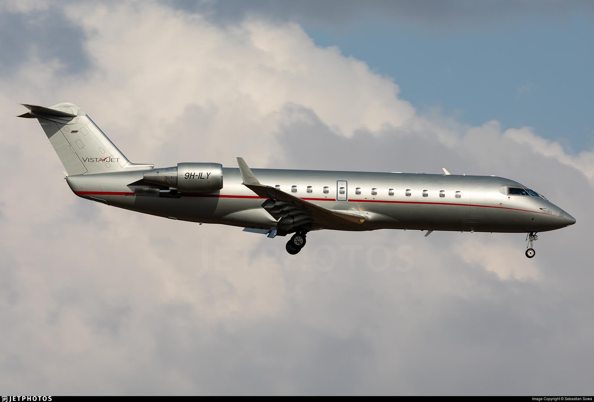9H-ILY - Bombardier CL-600-2B19 Challenger 850 - VistaJet
