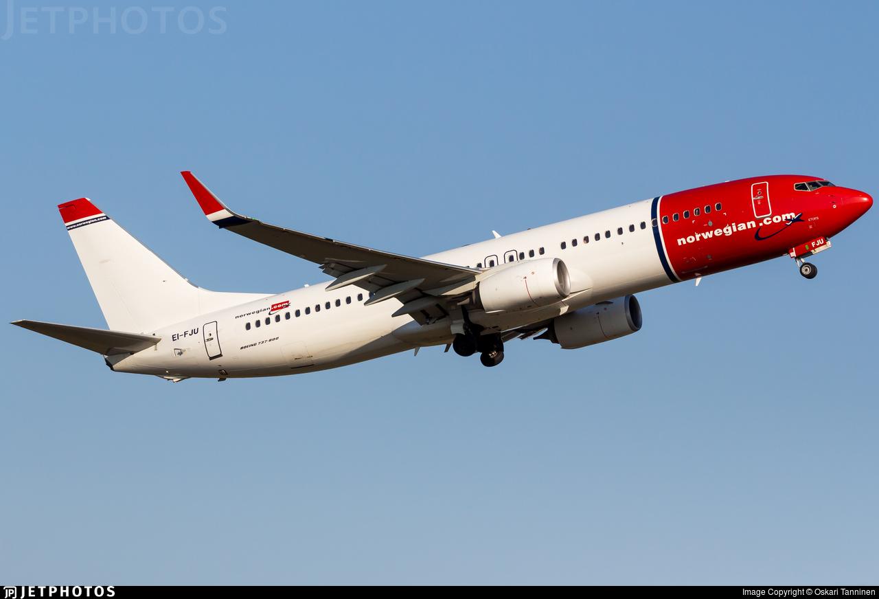 EI-FJU - Boeing 737-8JP - Norwegian