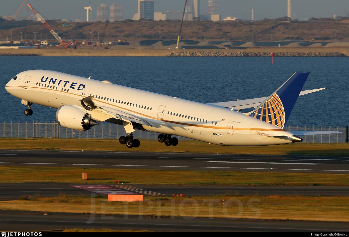 N26970 - Boeing 787-9 Dreamliner - United Airlines