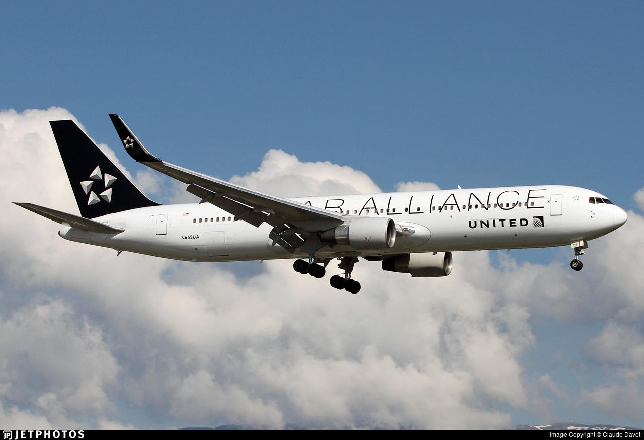 N653UA - Boeing 767-322(ER) - United Airlines