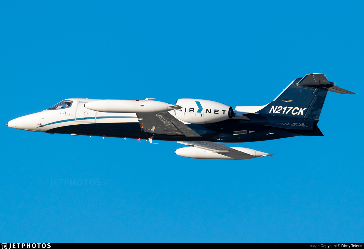 N217CK - Gates Learjet 35A - AirNet Systems