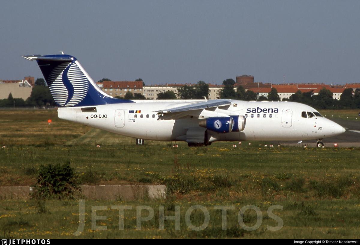 OO-DJO - British Aerospace Avro RJ85 - Sabena