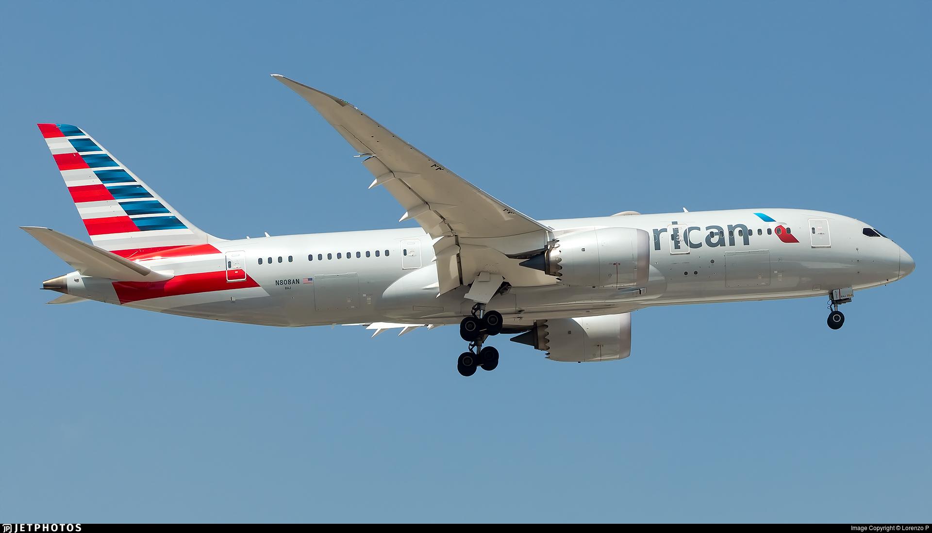 N808AN - Boeing 787-8 Dreamliner - American Airlines