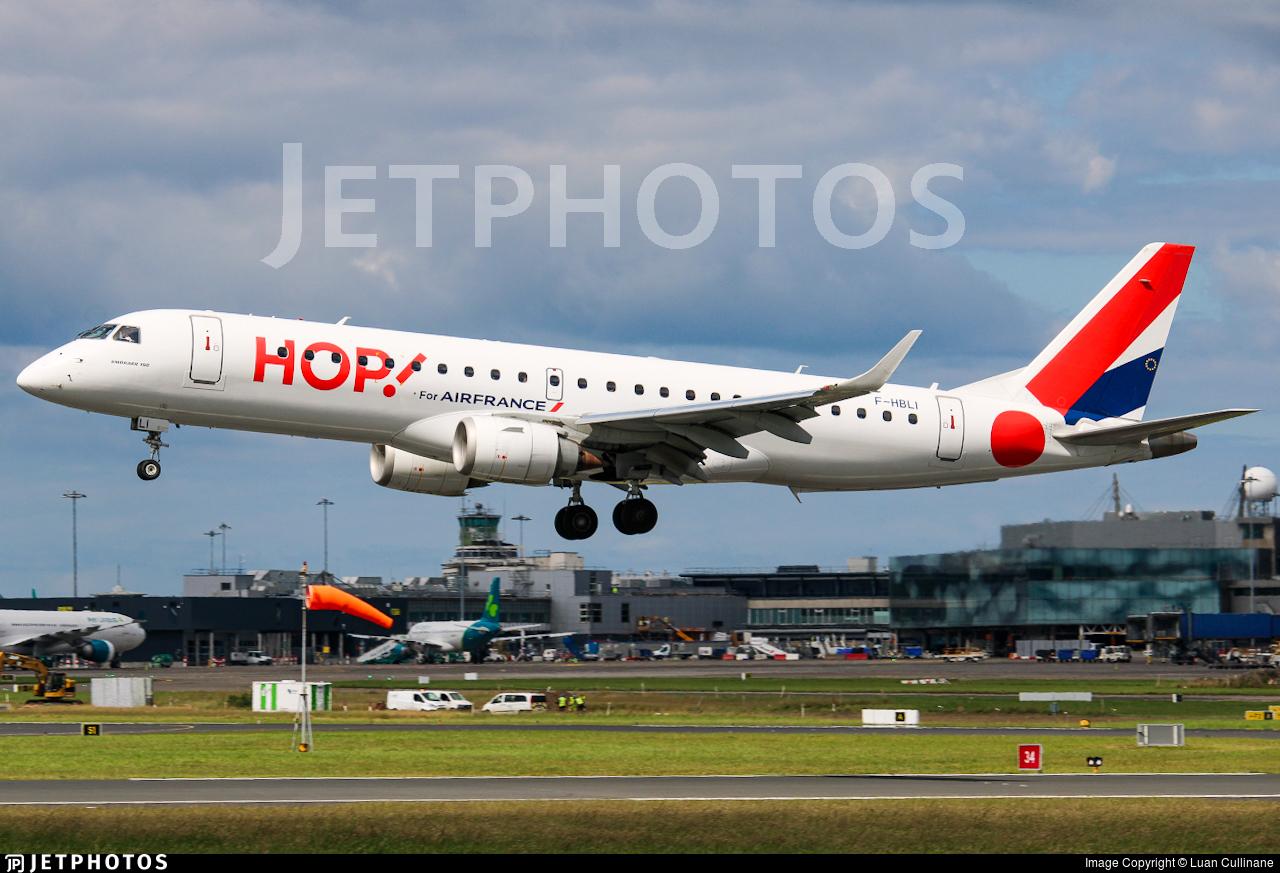 F-HBLI - Embraer 190-100STD - HOP! for Air France