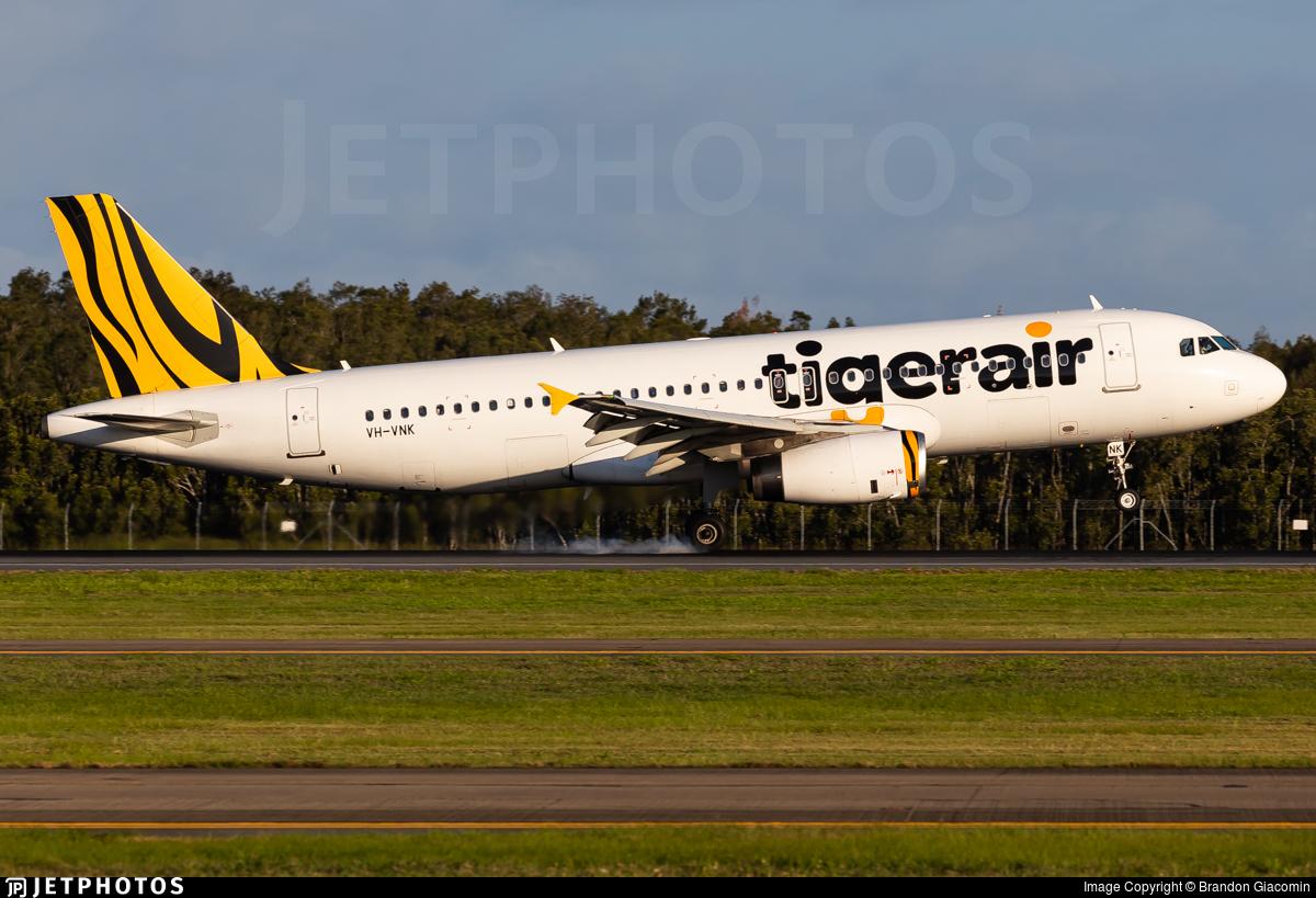 VH-VNK - Airbus A320-232 - Tigerair