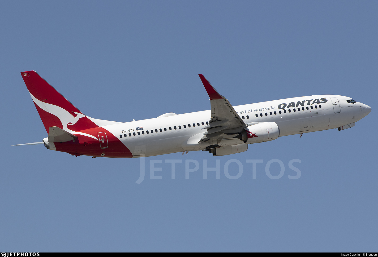 VH-VZV - Boeing 737-838 - Qantas