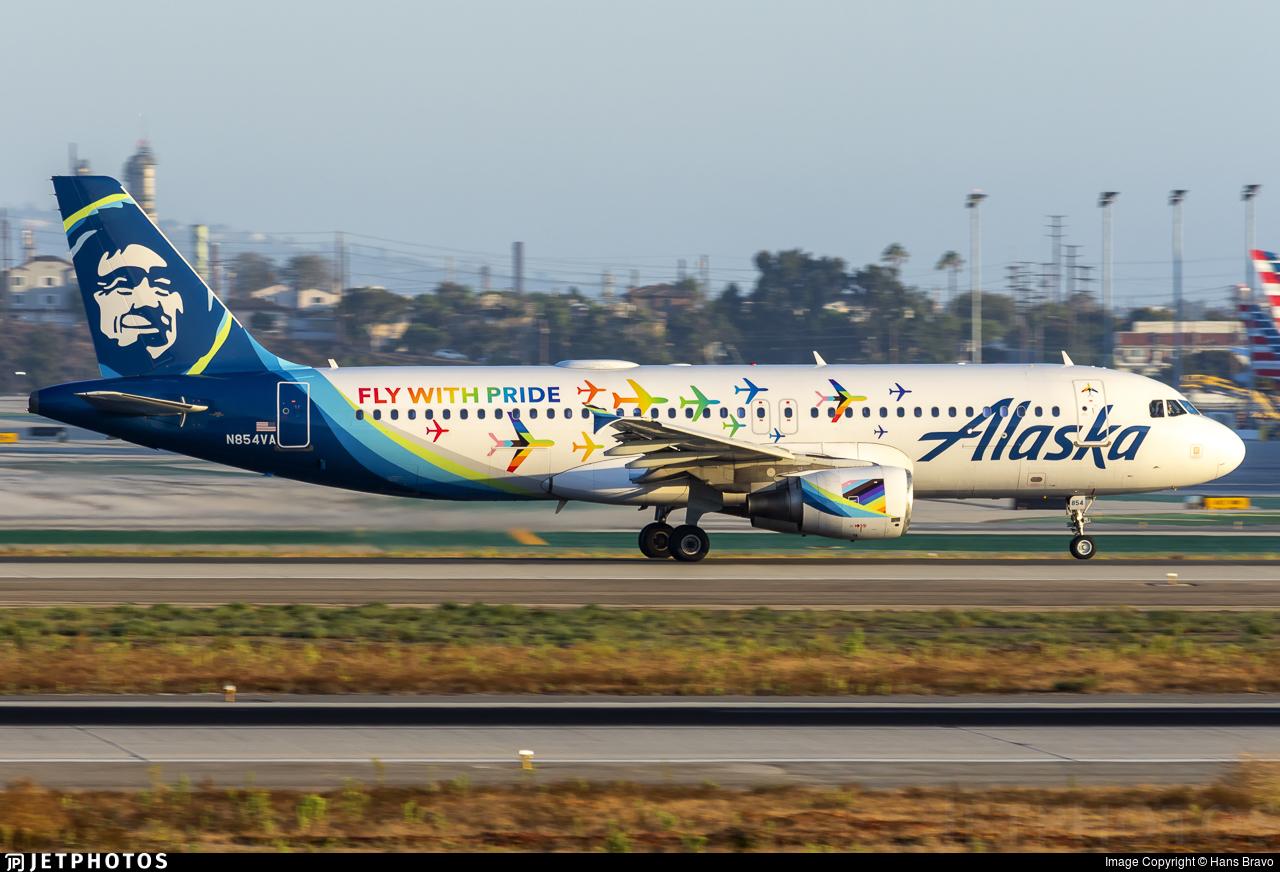 N854VA - Airbus A320-214 - Alaska Airlines