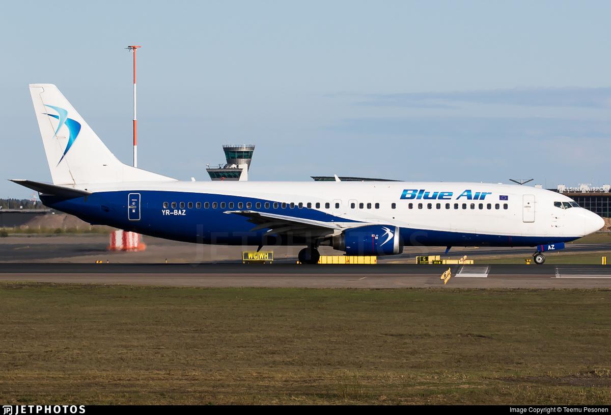 YR-BAZ - Boeing 737-405 - Blue Air