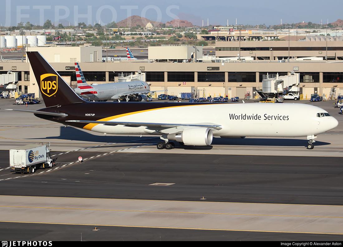 N367UP - Boeing 767-34AF(ER) - United Parcel Service (UPS)