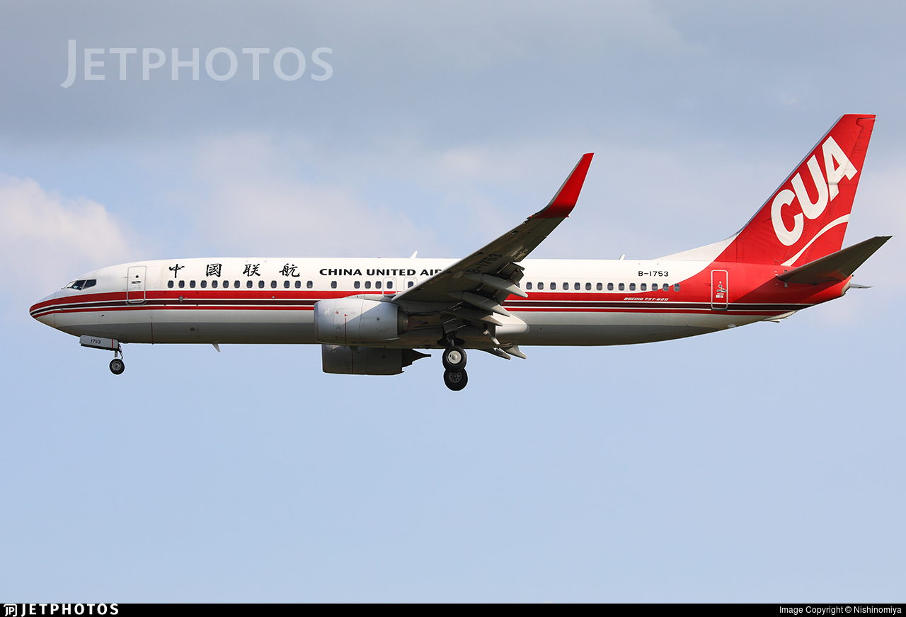 B-1753 - Boeing 737-89P - China United Airlines