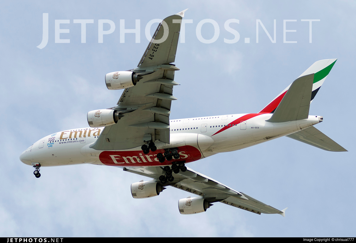 A6-EEG - Airbus A380-861 - Emirates