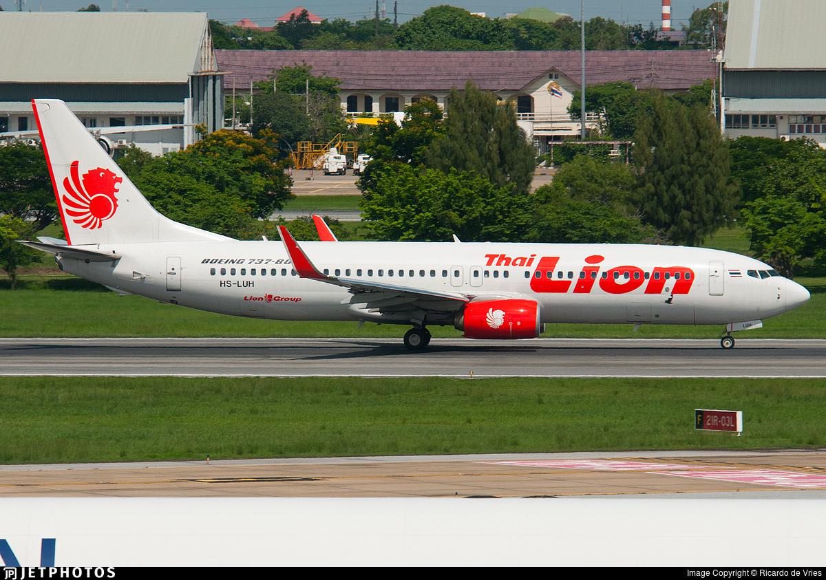 HS-LUH - Boeing 737-8GP - Thai Lion Air