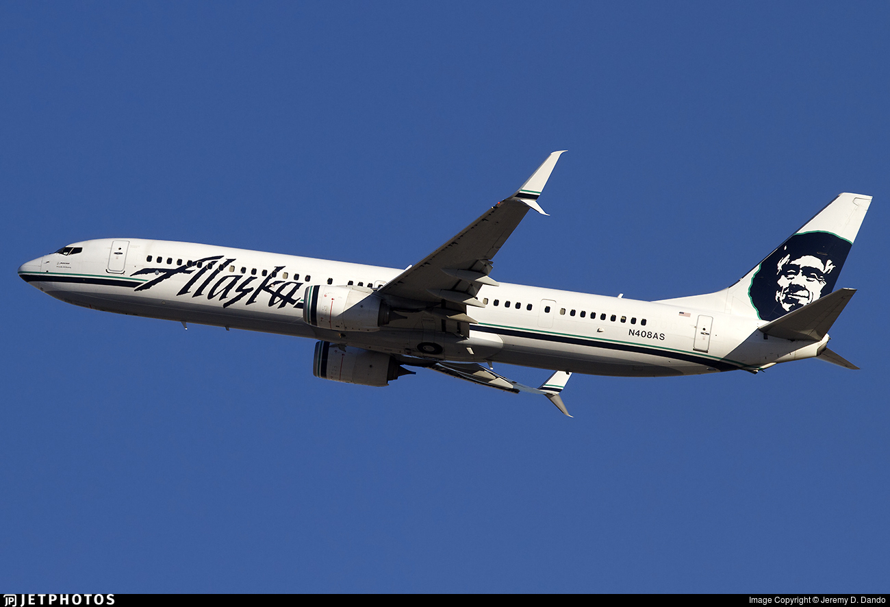 N408as Boeing 737 990er Alaska Airlines Jeremy D