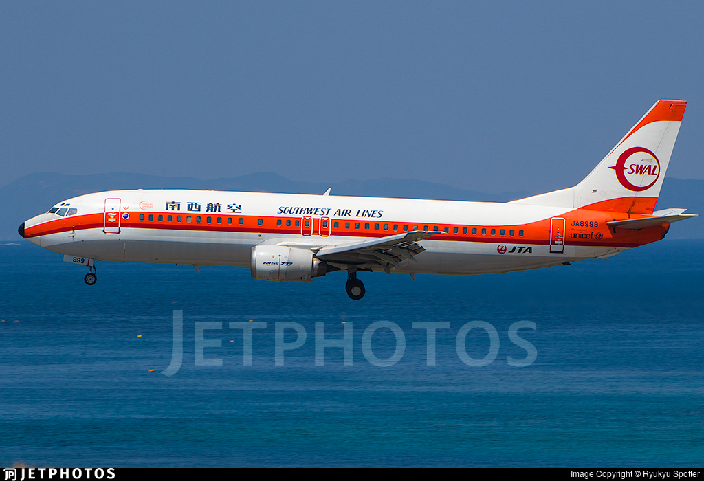 JA8999 - Boeing 737-446 - Japan TransOcean Air (JTA)