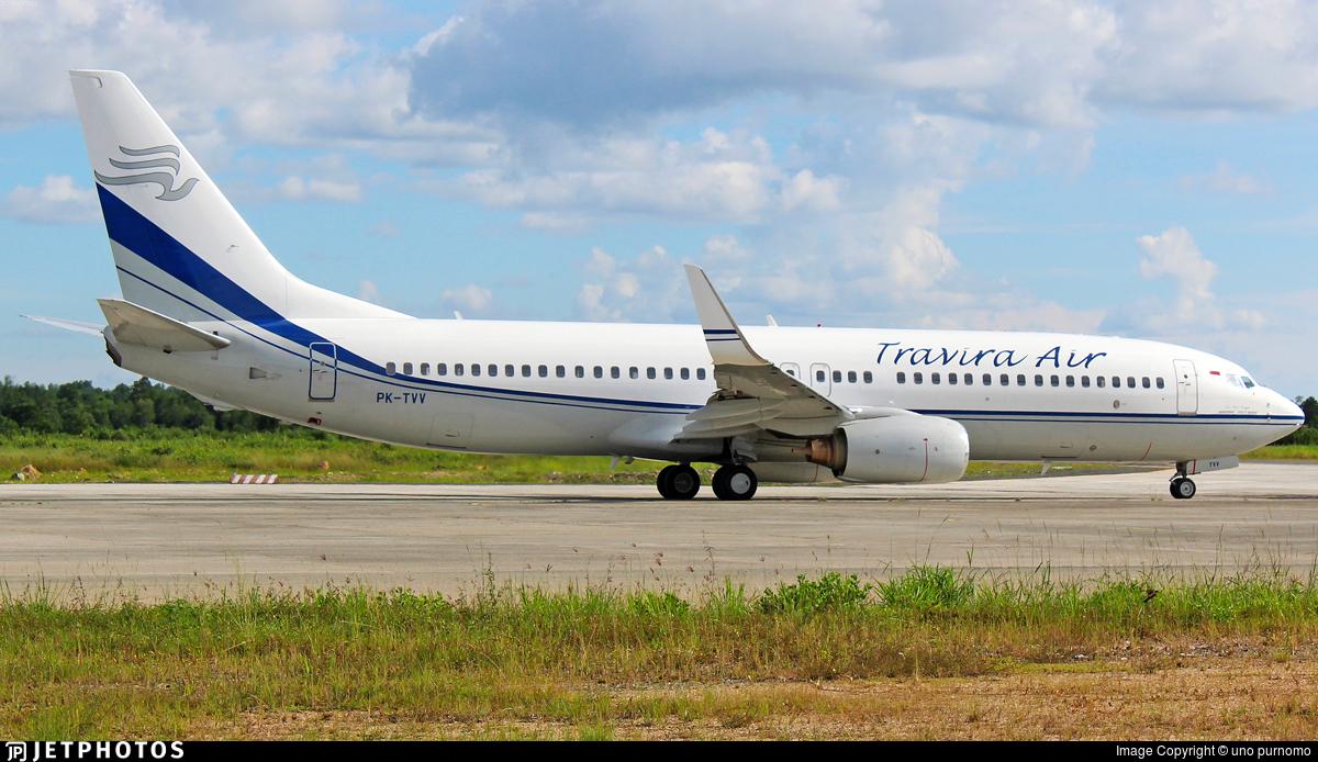 PK-TVV - Boeing 737-8EH - Travira Air