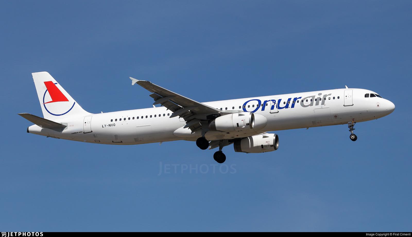 LY-NVQ - Airbus A321-231 - Onur Air (Avion Express)
