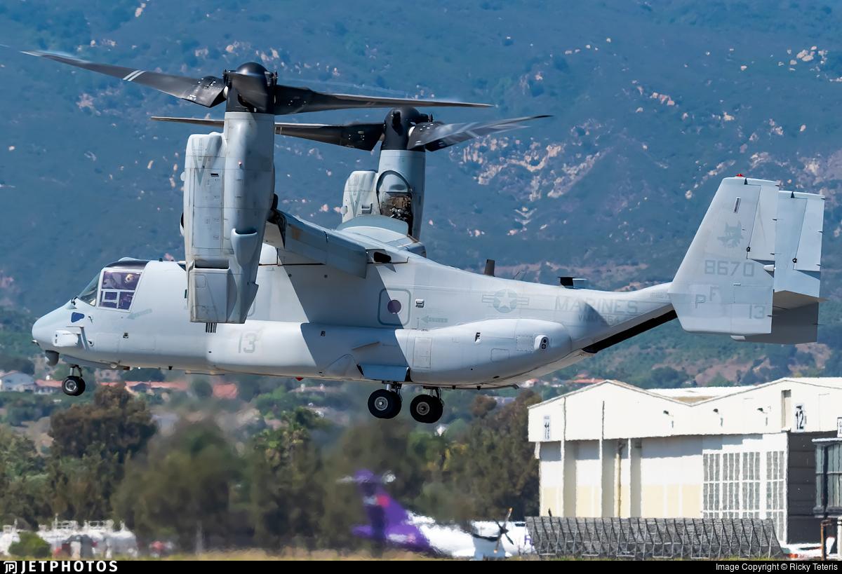 168670 - Boeing MV-22B Osprey - United States - US Marine Corps (USMC)