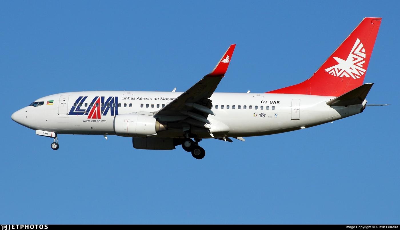 C9-BAR - Boeing 737-7Q8 - Linhas Aéreas de Moçambique (LAM)