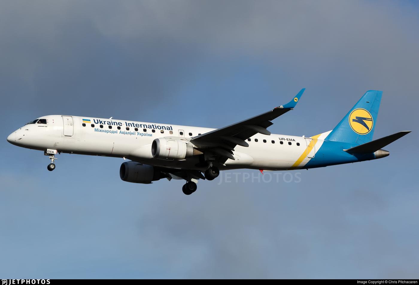 UR-EMA - Embraer 190-100STD - Ukraine International Airlines