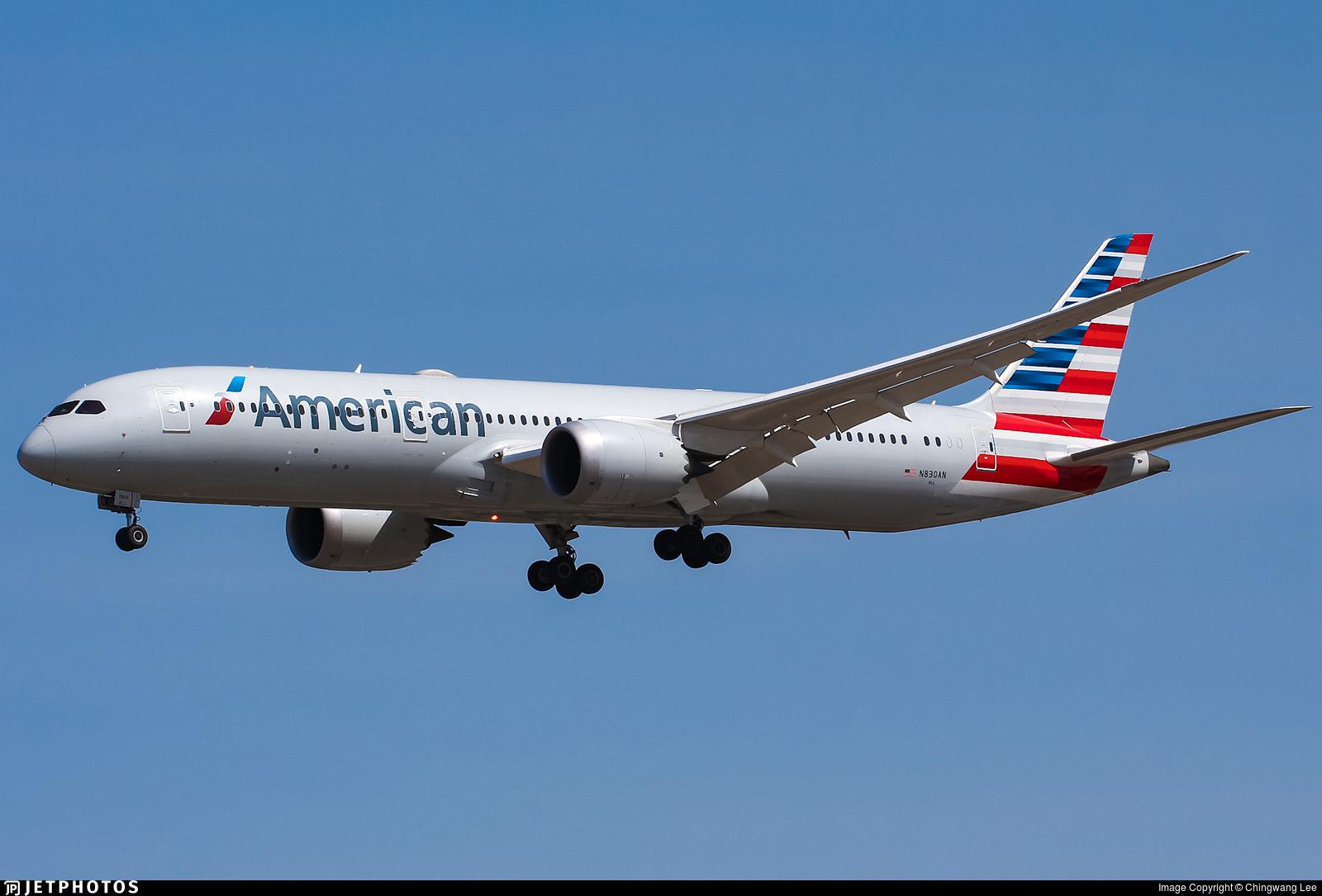 N830AN - Boeing 787-9 Dreamliner - American Airlines