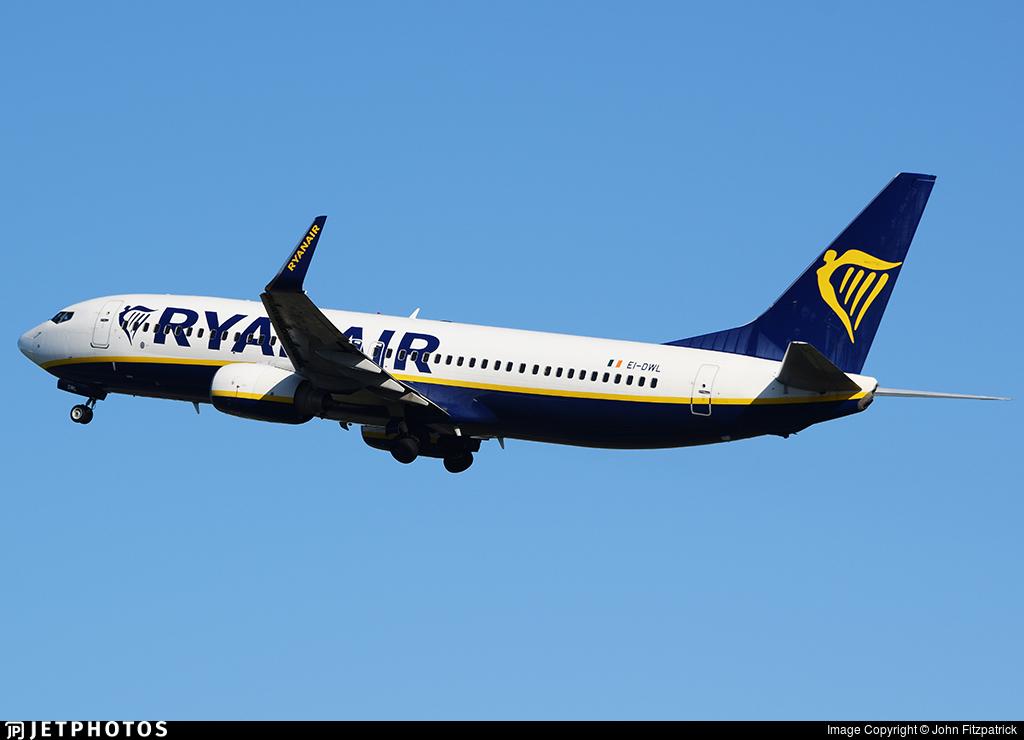 EI-DWL - Boeing 737-8AS - Ryanair