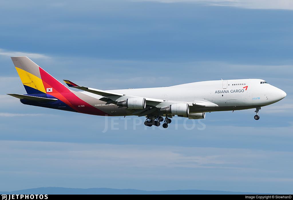 HL7413 | Boeing 747-48E(BDSF) | Asiana Cargo | SlowhanD ...