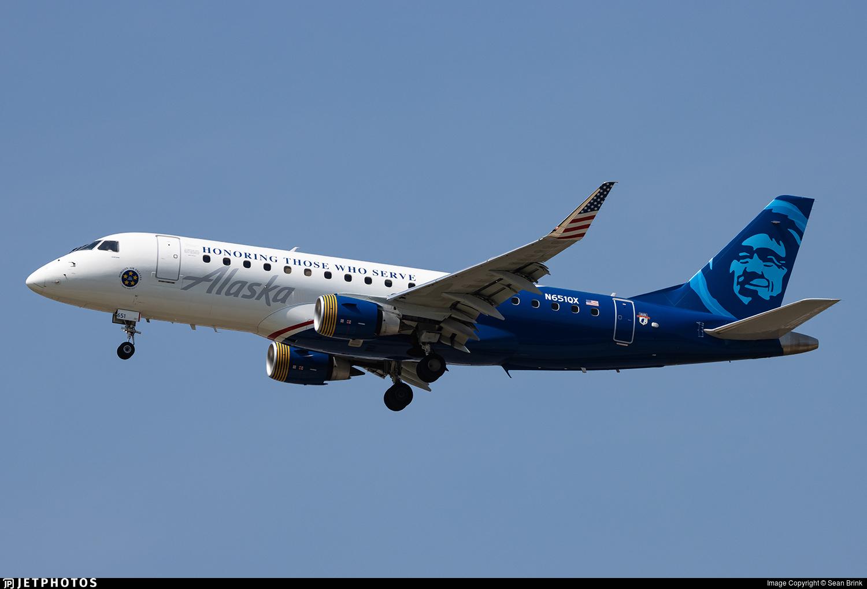 N651QX - Embraer 170-200LR - Alaska Airlines (Horizon Air)