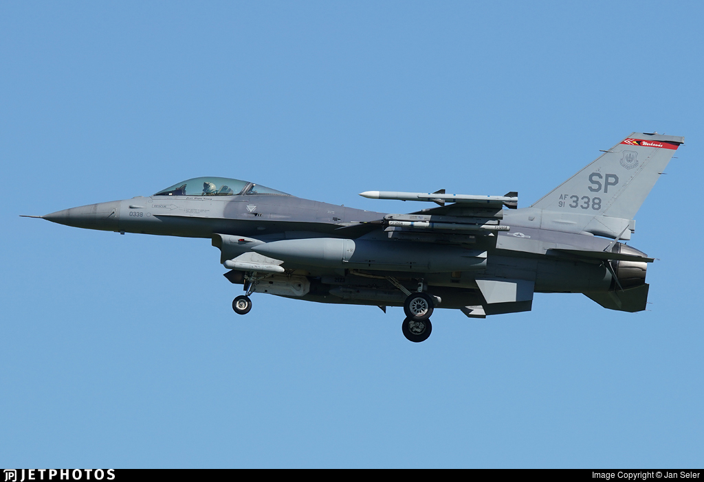 91-0338 - General Dynamics F-16CM Fighting Falcon - United States - US Air Force (USAF)