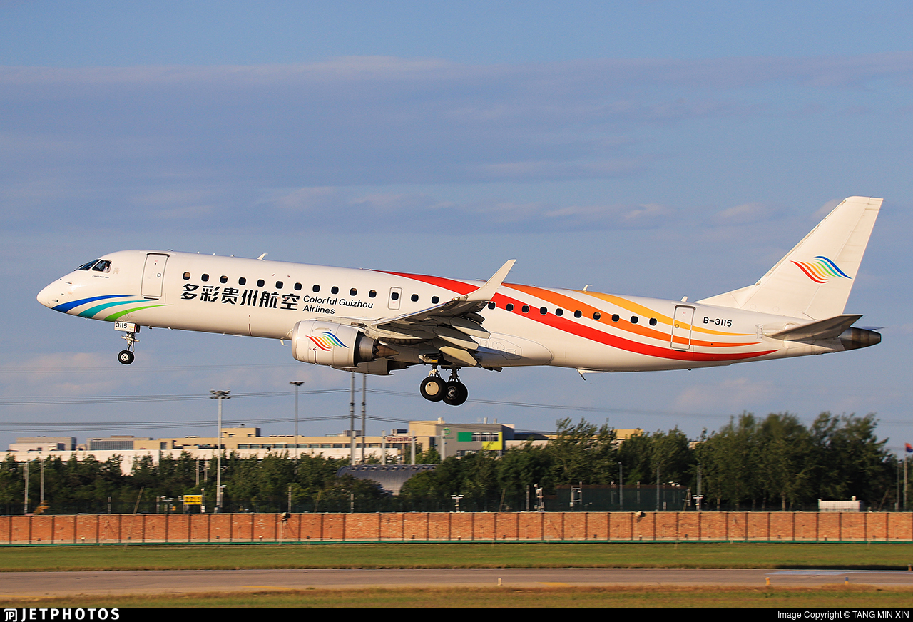 B-3115 - Embraer 190-100LR - Colorful Guizhou Airlines