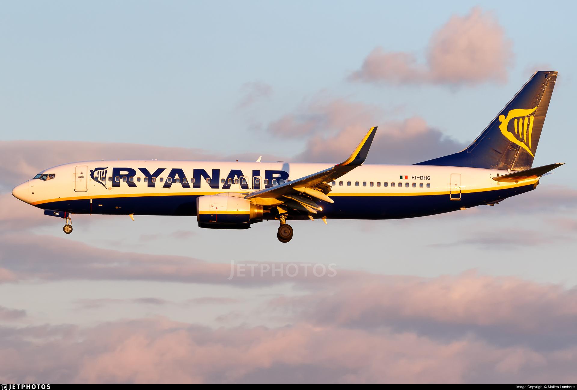 EI-DHG - Boeing 737-8AS - Ryanair