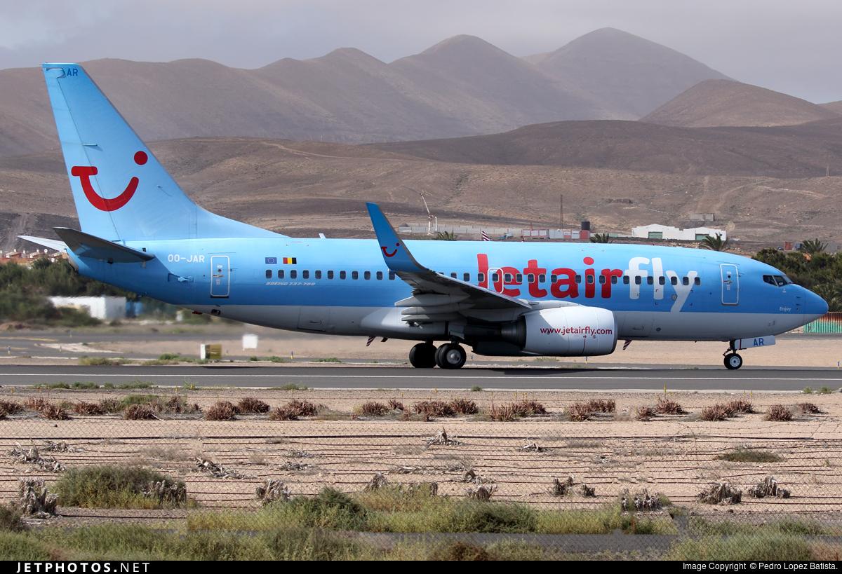 OO-JAR - Boeing 737-7K5 - Jetairfly