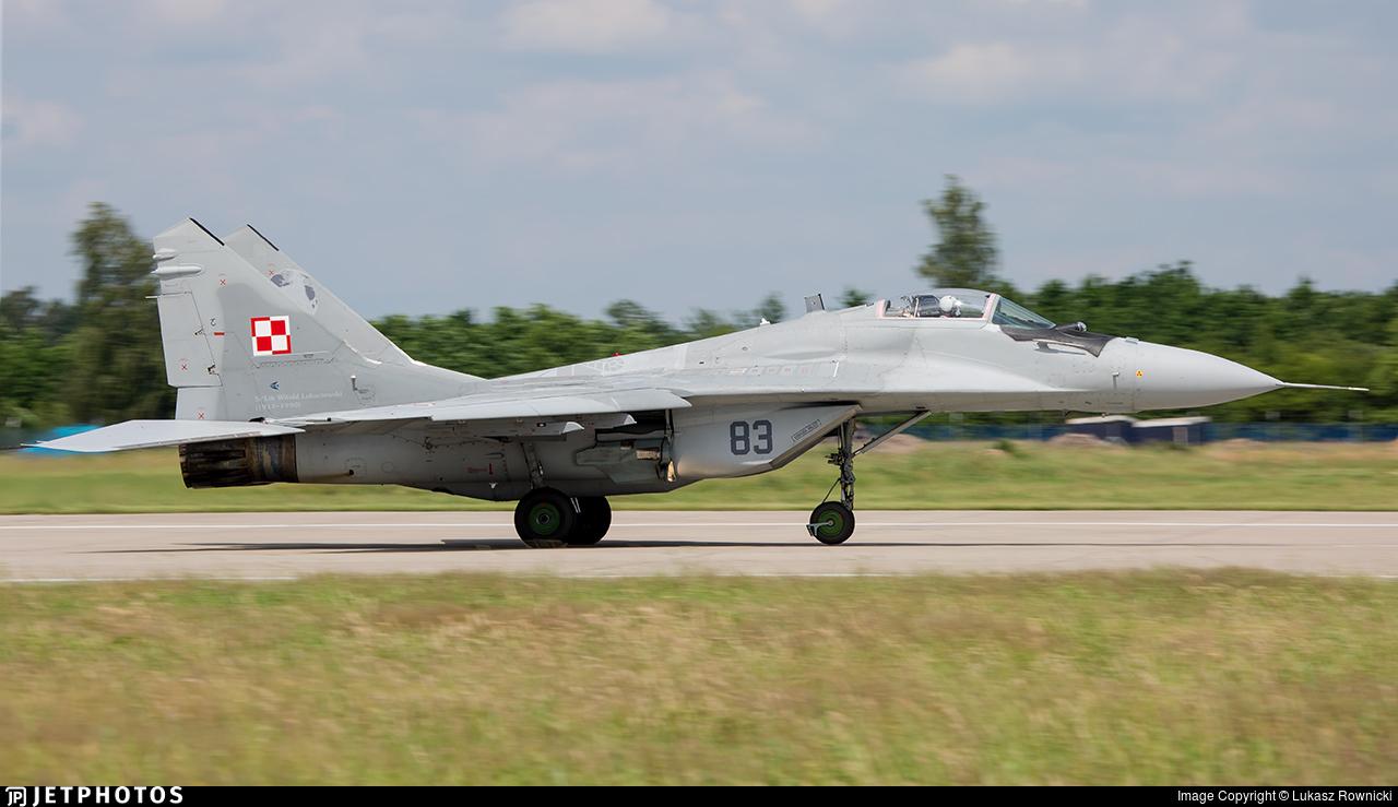 83 - Mikoyan-Gurevich MiG-29A Fulcrum A - Poland - Air Force
