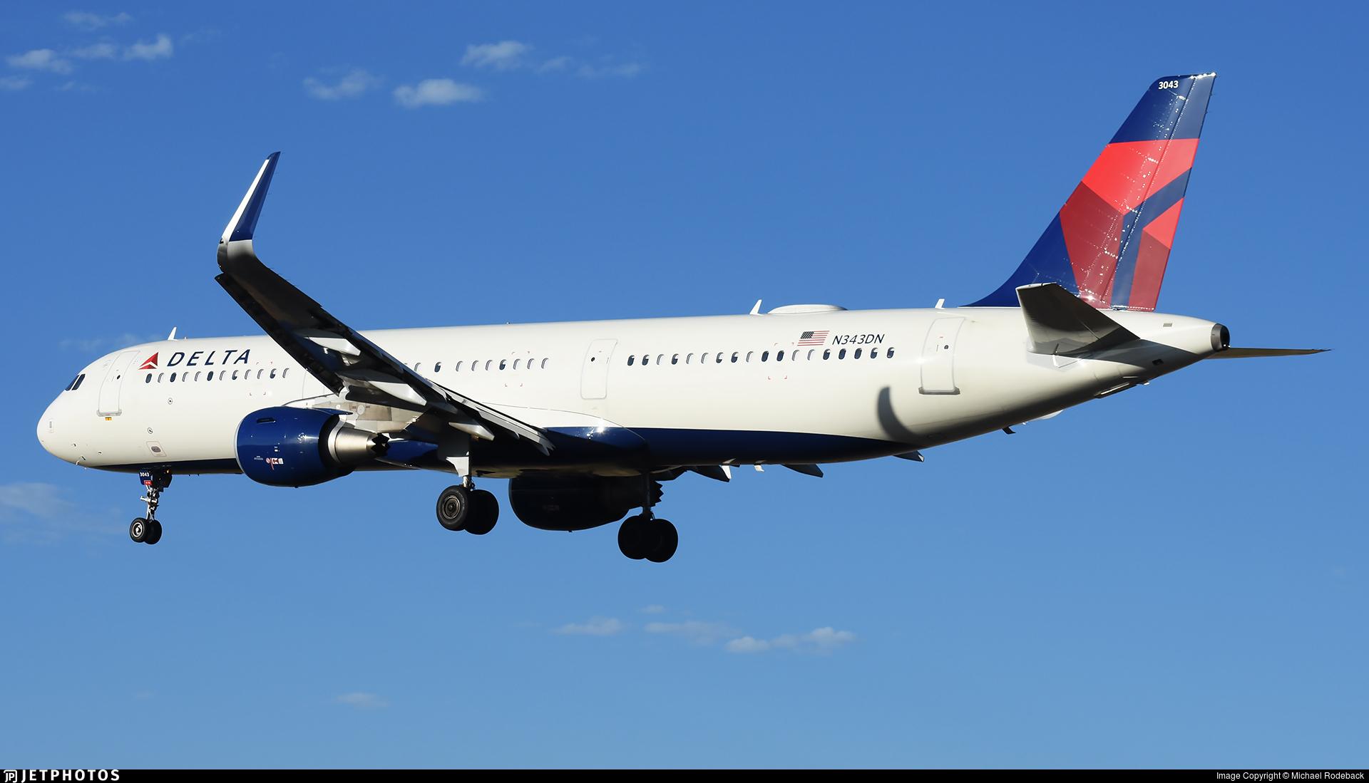 N343DN - Airbus A321-211 - Delta Air Lines