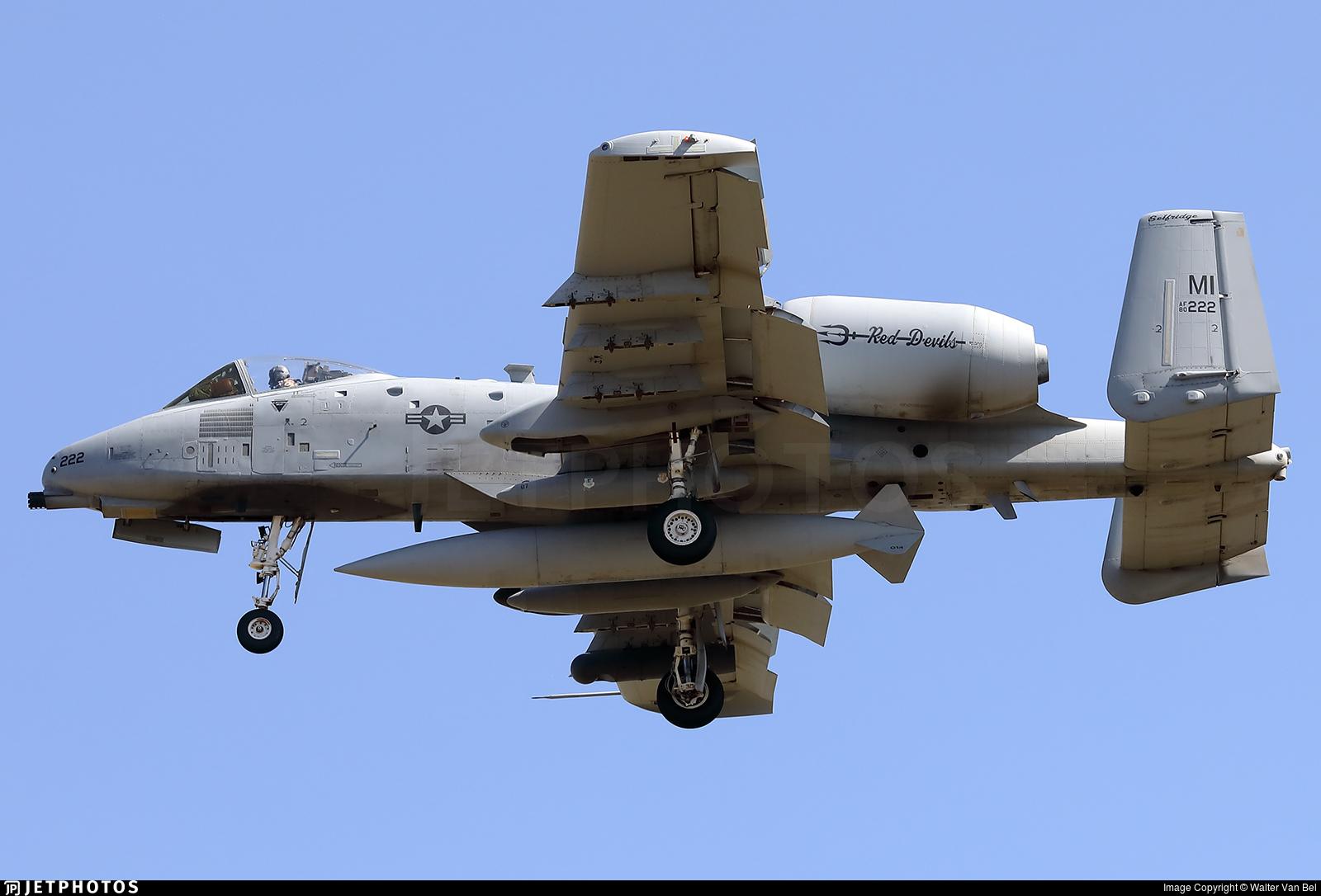 80-0222 - Fairchild A-10C Thunderbolt II - United States - US Air Force (USAF)