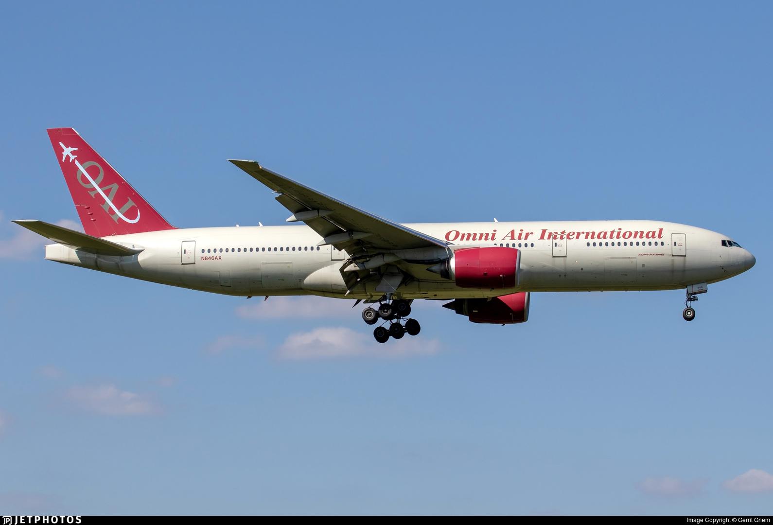 N846AX - Boeing 777-2U8(ER) - Omni Air International (OAI)
