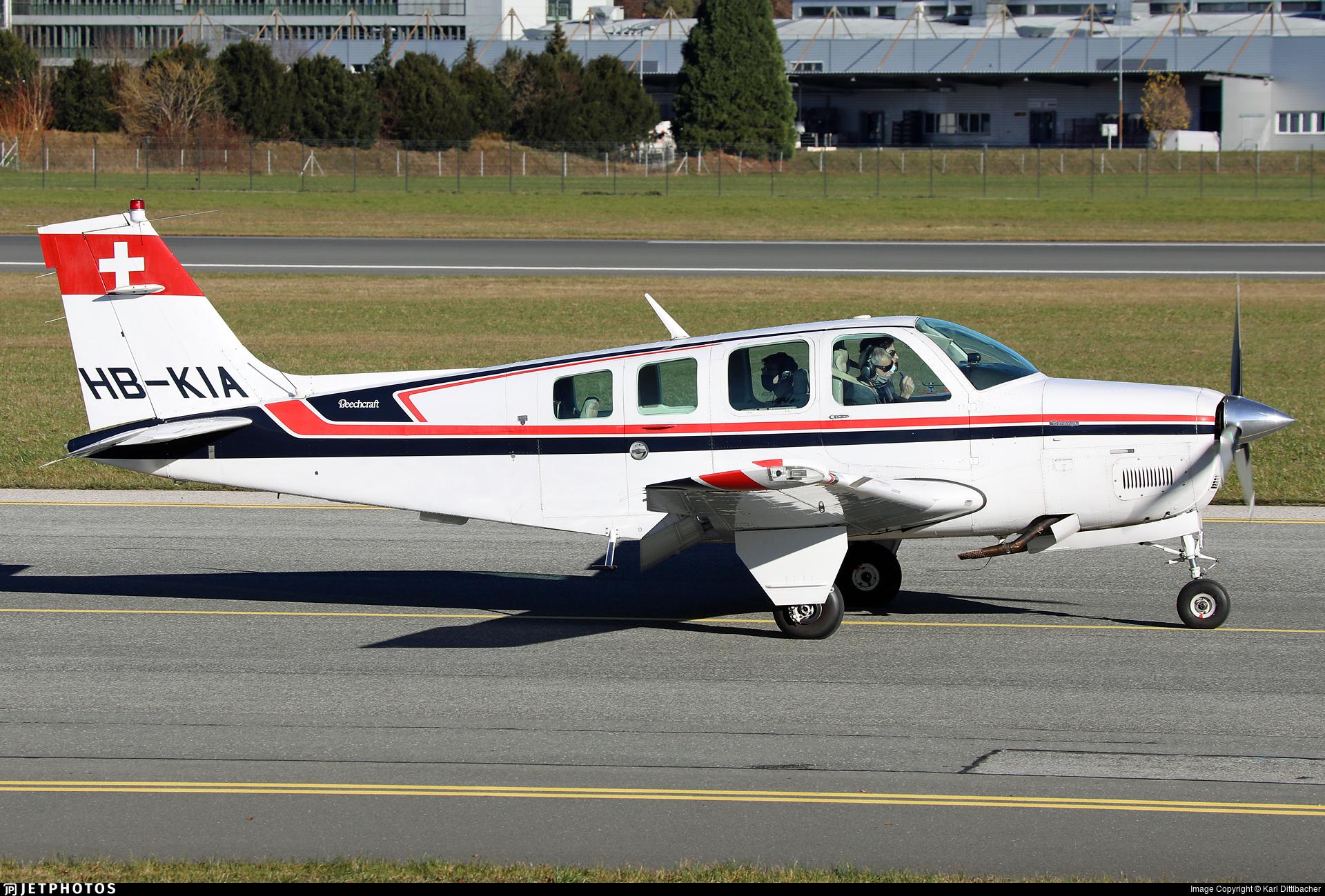 HB-KIA - Beechcraft 36 Bonanza - Switzerland - Bundesamt für Zivilluftfahrt (Federal Office of Civil Aviation)
