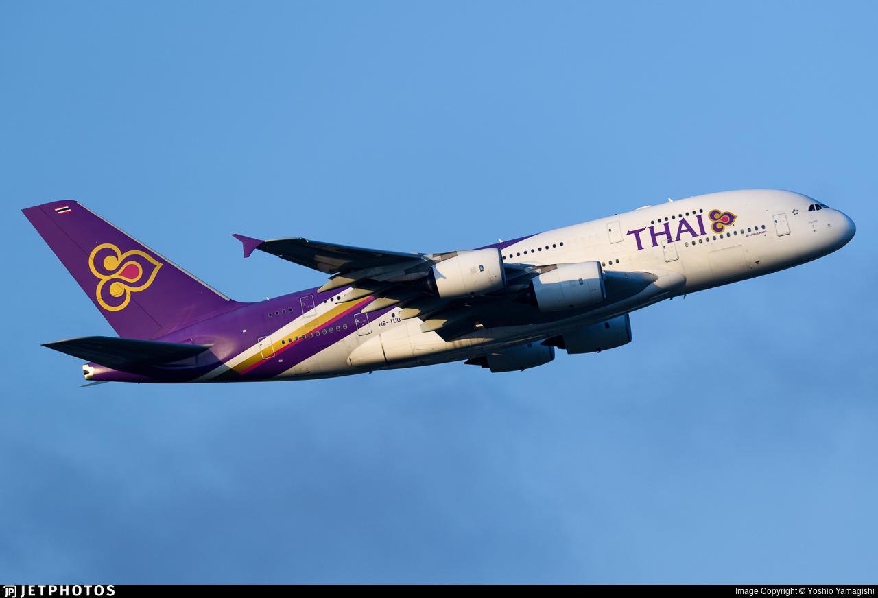 HS-TUB | Airbus A380-841 | Thai Airways International | Yoshio ...