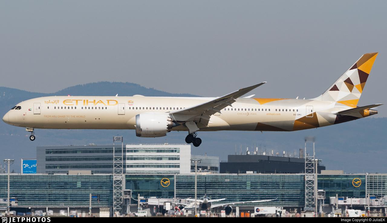 A6-BMG - Boeing 787-10 Dreamliner - Etihad Airways