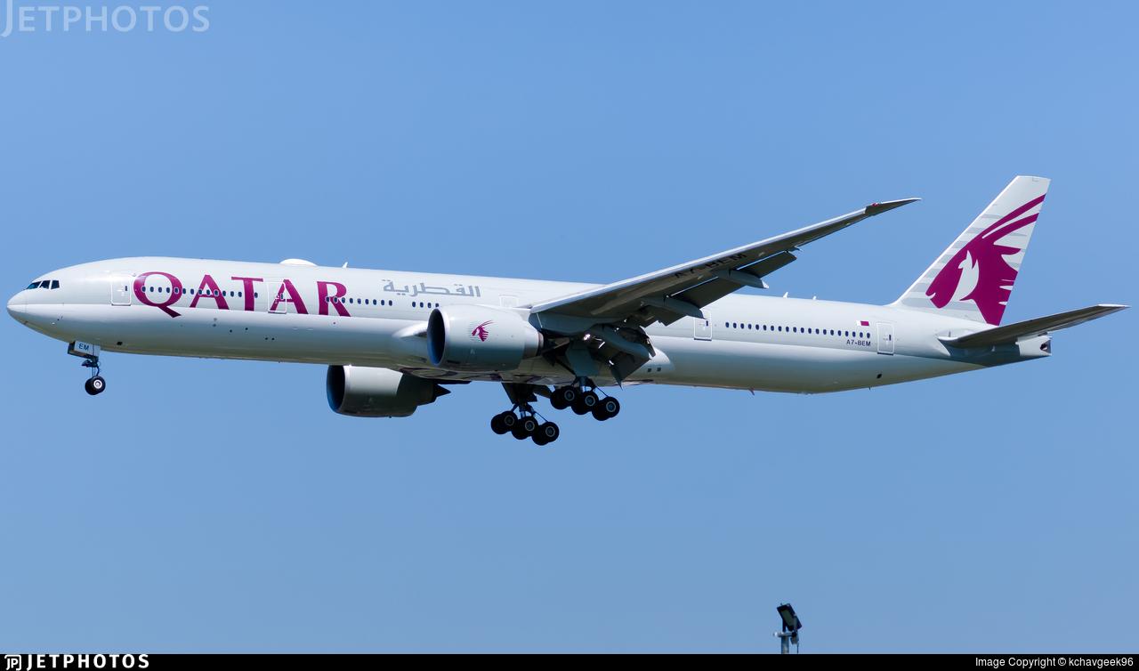 A7-BEM - Boeing 777-3DZER - Qatar Airways