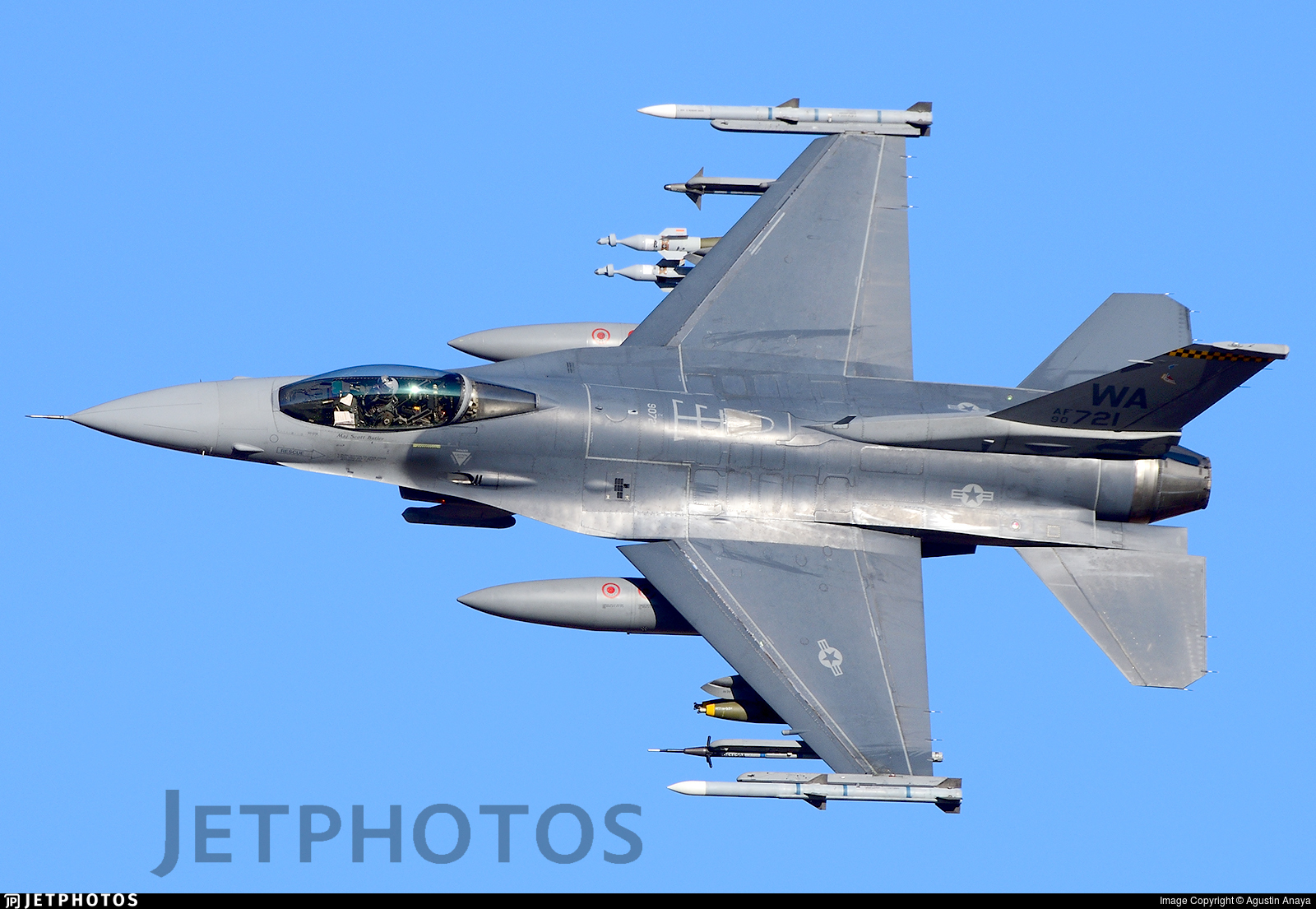 90-0721 - General Dynamics F-16CM Fighting Falcon - United States - US Air Force (USAF)
