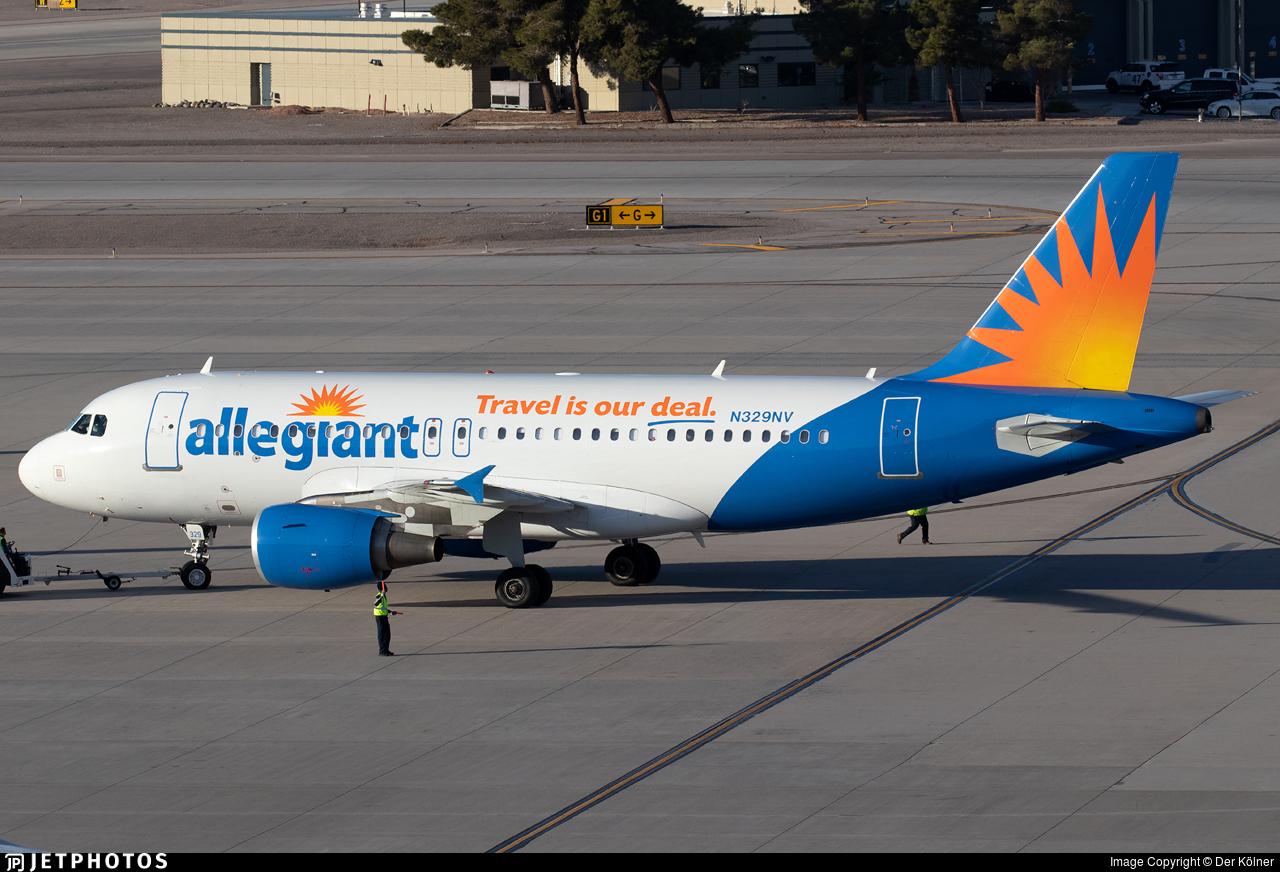 N329NV - Airbus A319-111 - Allegiant Air