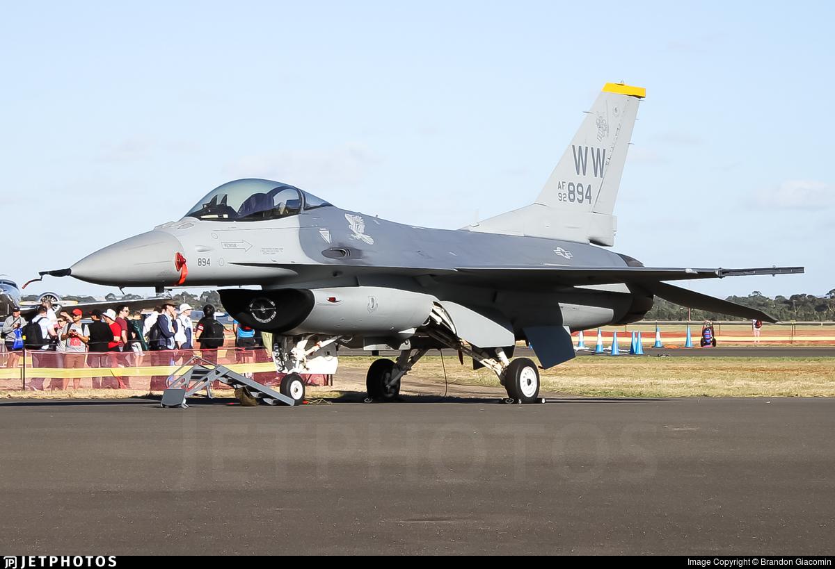 92-3894 - Lockheed Martin F-16C Fighting Falcon - United States - US Air Force (USAF)