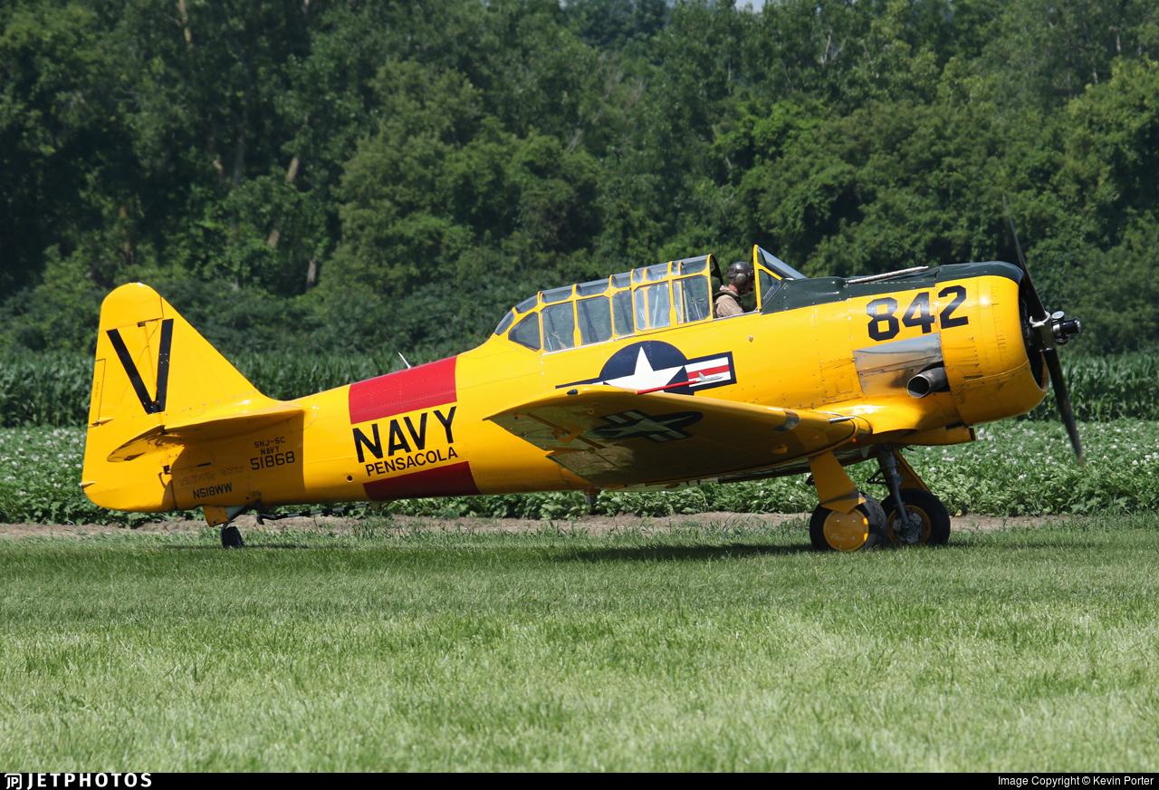 N518WW - North American SNJ-5 Texan - Private