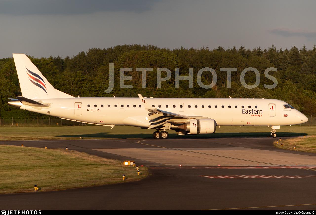 G-CLSN - Embraer 190-100LR - Eastern Airways