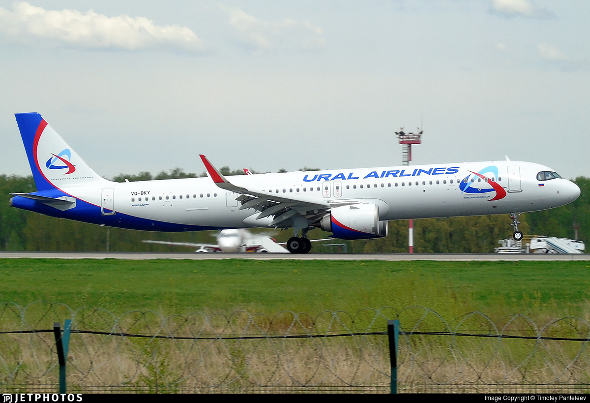 VQ-BKY - Airbus A321-251NX - Ural Airlines